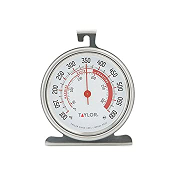 Taylor Precision Products 5932 Large Dial Kitchen Cooking Oven Thermometer 3.25 Inch Dial Stainless Steel