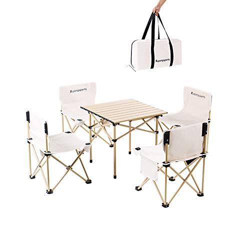 XIN XIN Tischplatte Aus Aluminiumlegierung Aufrollbarer Tisch Camping Tragbarer Klapptisch Und Stuhlset Für Esstisch Im Freien Grilltisch Innenküchentisch