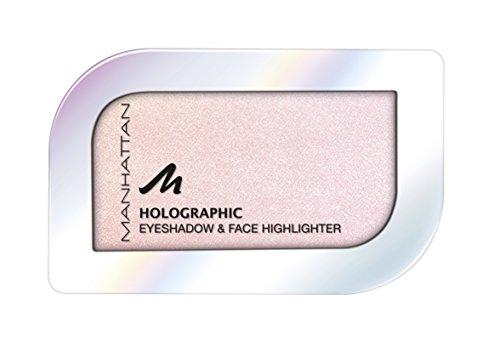 Manhattan Holographic Ombre Eyeshadow, Farbe 003 Blushed Orbit, Lidschatten mit holographischem Effekt in Rosa, 1er Pack (1 x 4 g)