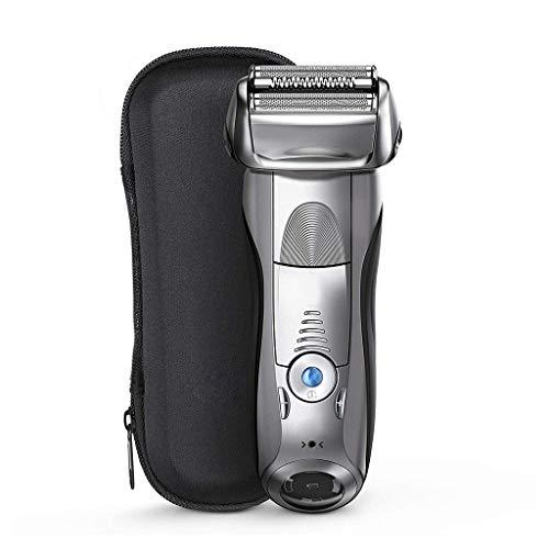 Maquinilla de afeitar eléctrica recargable para hombres, flexible pivotante afeitar impermeable gris...