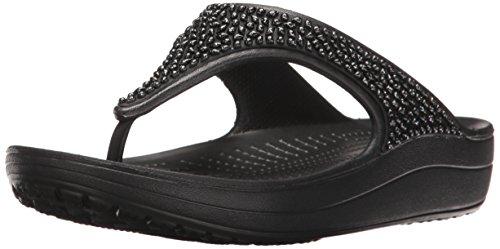 Crocs Sloane Embellished Flip, Zapatos de Playa y Piscina para Mujer