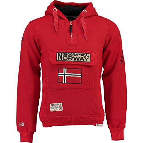 Geographical Norway Sudadera Hombre GYMCLASS 100 rol 14 Rojo M