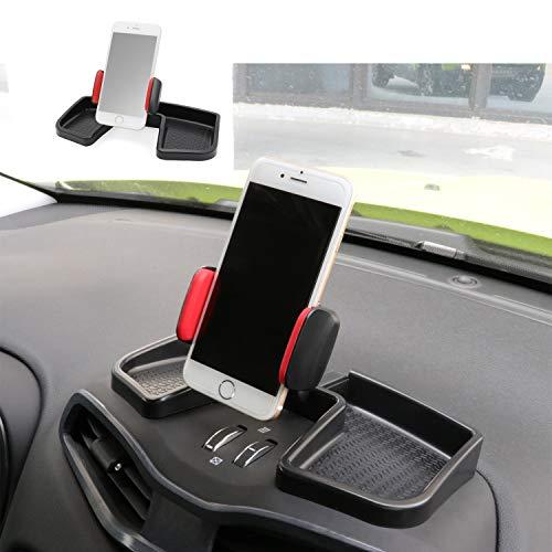 Camoo para Jeep Renegade teléfono y soporte de coche GPS rotación de 360 grados con organizador de almacenamiento ajustable soporte móvil soporte Kit para Jeep Renegade 2015-2019