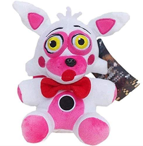 Plush Toys 18cm FNAF Five Nights at Freddy's Phantom Foxy Stuffed Doll for Kids Great Gifts- 18cm White Fox Gift