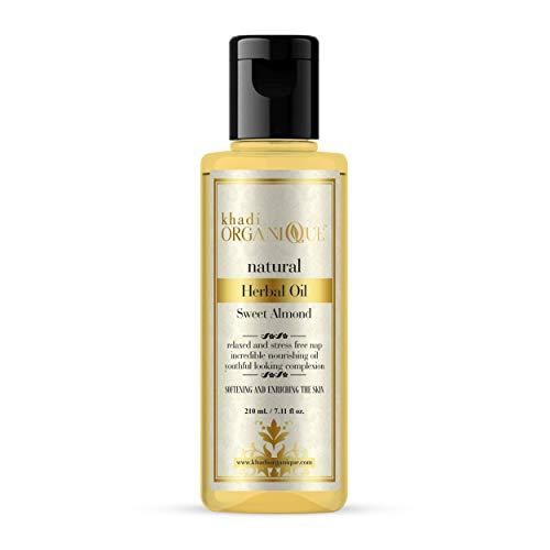 Khadi Organique Sweet Almond Oil, 210 ml