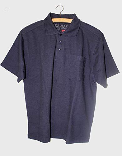KANSAS YUKON poloshirt poloshirt T-shirt werkshirt werkshirt herenpolo Small blauw