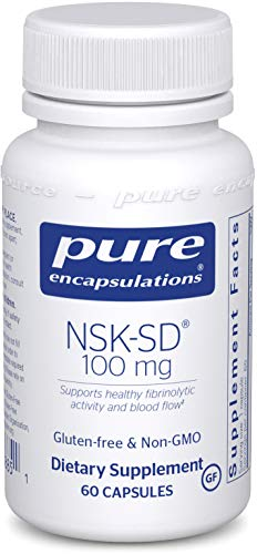 Pure Encapsulations - NSK-SD - Nattokinase 100 mg - Enzymes to Promote Healthy Blood Flow, Circulation, and Blood Vessel Function - 60 Capsules