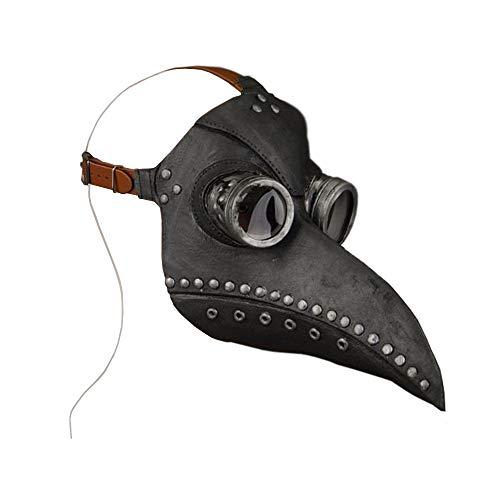 Halloween Plague Doctor Mask,Steampunk Bird Plague Doctor mask Long Nose Beak Cosplay Halloween Party