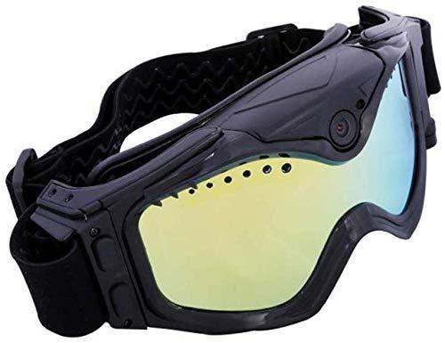 Unbekannt Skibrillen-Kamera WiFi Ski-Sunglass HD Sports Camera Buntes Doppeltes Antibeschlag-Objektiv