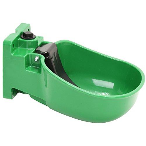 Tränkebecken K50 mit Druckzunge aus hochwertigem Kunststoff, für Rinder und Pferde, grün