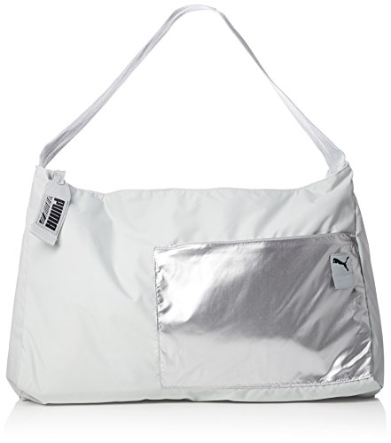 Puma Dancer Barrel sporttas, grijs/paars/periscoop, 54,5 x 37 x 1,5 cm