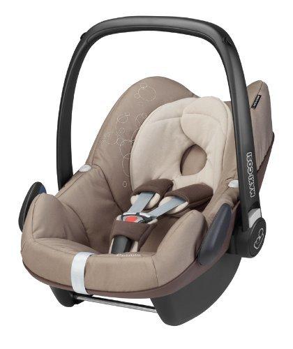 Maxi-Cosi 63005351 Pebble Kinderautositz Gruppe 0+ (bis 13 kg), ab der Geburt bis ca. 12 Monate, FamilyFix Konzept, walnut brown