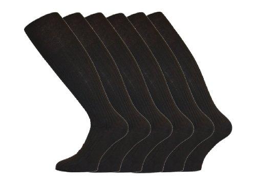 Socks Uwear Chaussettes hautes côtelées en coton pour homme Taille 39-46 noir Noir 39-45