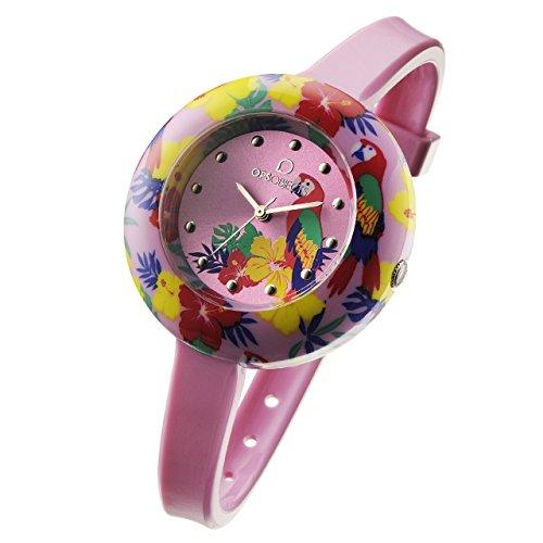 OPS Reloj TROPICAL Mujer Sólo el tiempo Rosa - OPSPW-212