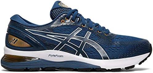 ASICS Men s Gel Nimbus 21 Running Shoes 7 5M MAKO Blue Black product image
