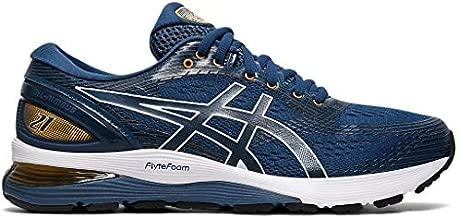 ASICS Men's Gel-Nimbus 21 Running Shoes, 12M, MAKO Blue/Black