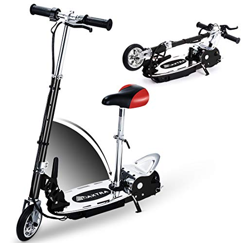 New Overwhelming Upgrade E120 Adjustable Handlebar and Seat Folding Electric Scooter for Kids,177lbs...