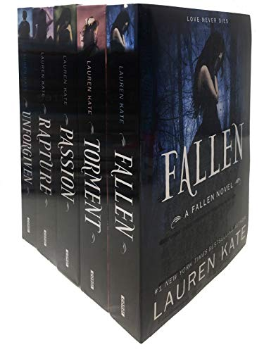Lauren Kate Fallen Series 5 Books Collection Set (Fallen, Torment, Passion, Rapture, Unforgiven) (Shrinkwrap)