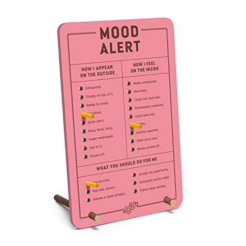 Knock Knock Mood Alert Desktop Pegboard