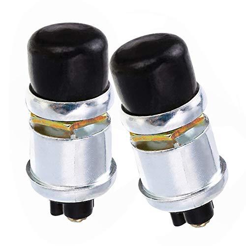 KingBra - Interruptor de botón de arranque impermeable, 12 V, botón de arranque para coche, camión, barco, scooter, remolque, 2 unidades