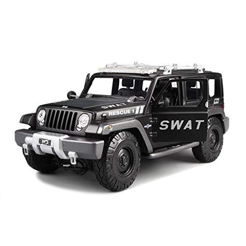 Niño Control remoto de automóvil para automóvil Modelo de control remoto Modelo 1: 18 Jeep Wrangler Simulación Simulación Control remoto Aleación de automóviles Adornos de juguete de fundición de troq