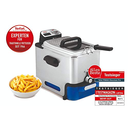 Tefal FR8040 Oleoclean Fritteuse Pro Inox und Design mit Filtersystem, 2300 W - 3