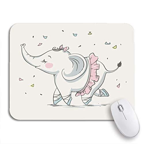 Gaming Mouse Pad Girl Niedliche Elefant Ballerina Tanzen Cartoon Baby Feier Gruß Rutschfeste Gummi Backing Computer Mousepad für Notebooks Maus Matten