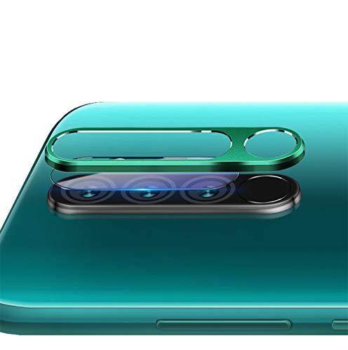 NOKOER Protector de Lente de Cámara para Xiaomi Redmi Note 8 Pro, [2 en 1] Anillo Protector Metálico para la Cámara + Película Protectora para la Cámara, Lente de la Cámara de Protección - Verde