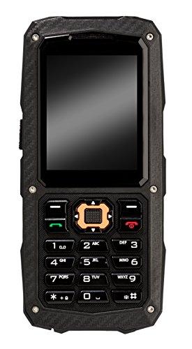 Cyrus CM8 SOLID Outdoor Handy, 1700 mAH Akku, Taschenlampe, 1GB, Dual SIM, 1,3 MP Kamera, 3G-fähig, stoßfest, staubdicht, wasserdicht, schwarz