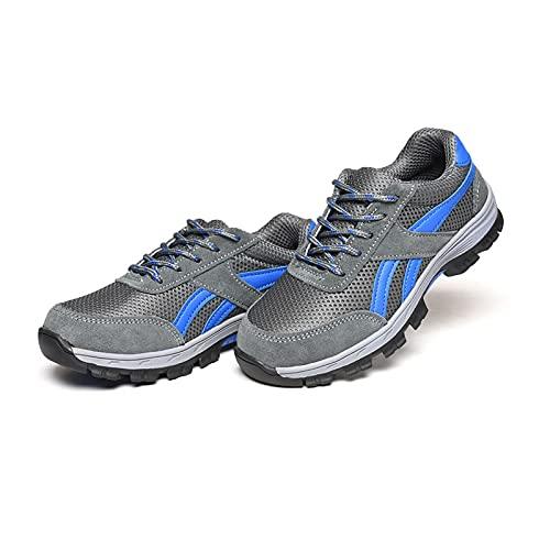 LLKK Calzado de protección,Zapatos Deportivos,Zapatos de Seguridad,Zapatos de Hombre,Zapatos Ligeros Antideslizantes de Moda Casual Transpirable de Verano