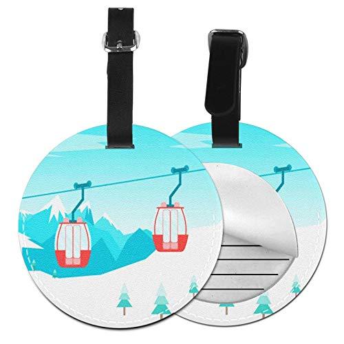 Etiquetas para Equipaje Bolso ID Tag Viaje Bolso De La Maleta Identifier Las Etiquetas Maletas Viaje Luggage ID Tag para Maletas Equipaje Teleférico de cabinas de Coche
