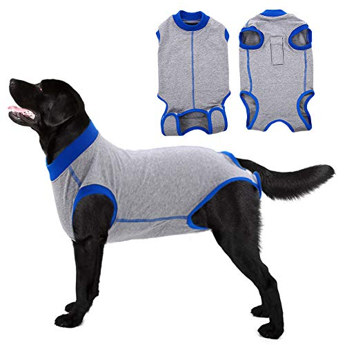 Recovery Suit for Dogs Cats After Surgery,Pet Cone E-Collar Bandages Alternative Recovery Vest,Male & Female Dogs Post-Operative Clothes,Professional Surgical Pet Wear for Abdominal Wounds & Weaning