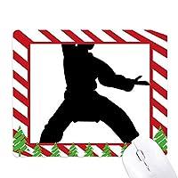 中国武術の少林カンフー・パターン ゴムクリスマスキャンディマウスパッド