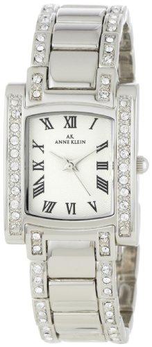 Hot Sale Anne Klein Women's 10-7127SVSV Stainless Steel Swarovski Crystal-Accented Watch