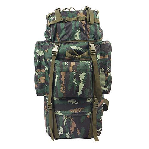 FOCUHUNTER 65L Backpacks Cadre intérieur imperméable avec Sac à Dos à bandoulière pour Sac de Pluie, Ajustable pour la Chasse, Les Voyages, Le Camping et l'escalade (Tabby Camouflage)