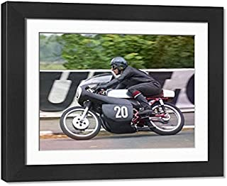 Framed 17x13 Print of Bob Ware (Yamaha) 1971 Ultra Lightweight TT (20588384)