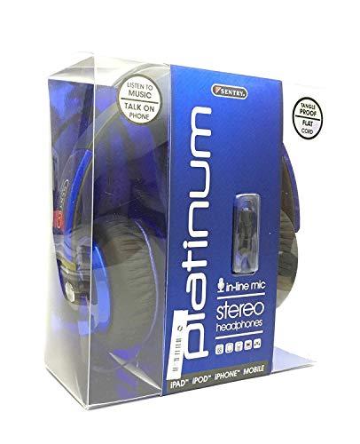 Sentry Platinum Inline-Mikrofon Stereo-Kopfhörer hs862–Blau