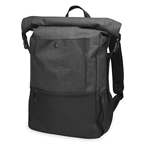 Gaiam Yoga Mat Bag Backpack | On-The-Move Roll Top Travel Carrier Daypack | Messenger Rucksack | Multiple Pockets, Laptop Divider, Padded Shoulder Straps, Large Capacity | Fits Most Size Mats