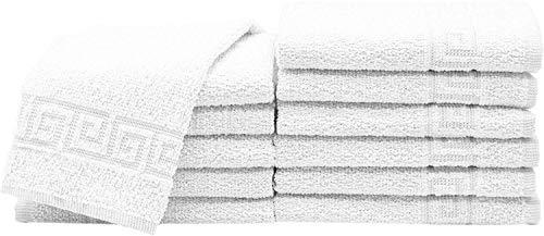 TEXTURAS HOME Toallas de baño para Hotel y Apartamentos Blanco (Tocador 50x30 cm)