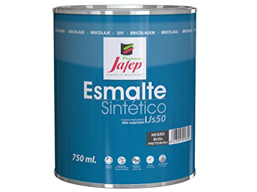 Jafep 35170131 Esmalte sintético, Negro, 750 ml