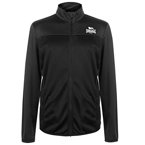 Lonsdale - Chándal deportivo para hombre con 2 rayas Negro L
