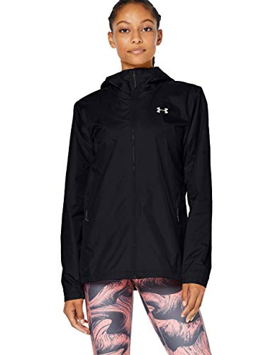 Under Armour Forefront Rain, Giacca Donna, Nero, SM