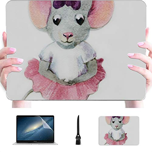 MacBook 11 Inch Case Little Mouse Ballerina Dance Plastic Hard Shell Compatible Mac Air 13' Pro 13'/16' MacBook A1466 Case Protective Cover for MacBook 2016-2020 Version
