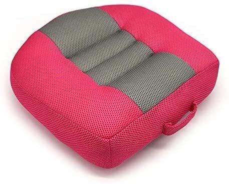 BESTPRVA Adulti auto Booster Cushion, antiscivolo portatile mesh traspirante innalzamento Altezza Car Seat Pad, for l automobile, ufficio, casa, Altezza Boost 12Cm (Color : Pink)