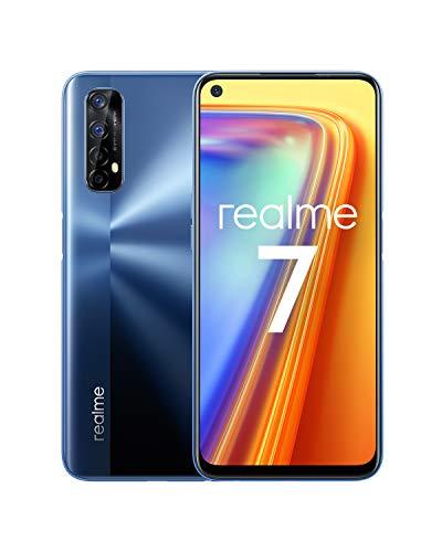 realme 7 Bleu Smartphone Débloqué 4G+ - (Ecran : 6,5 Pouces – 8 Go RAM – 128 Go ROM - Double Nano SIM - Android) [Version Française]