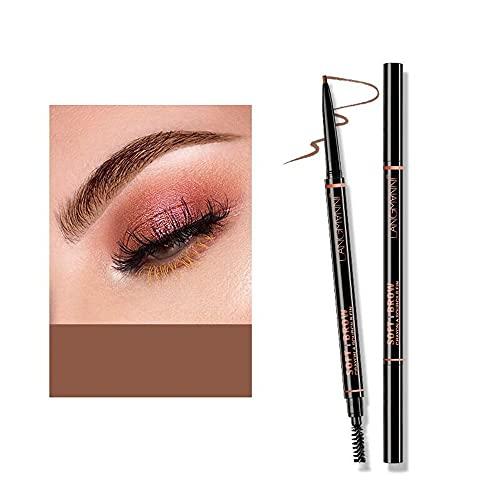 Lápiz de cejas a prueba de agua Maquillaje profesional Lápiz de cejas Maquillaje de larga duración Lápiz de punta fina Relleno de cejas 4 opciones de color (02 # Marrón claro)