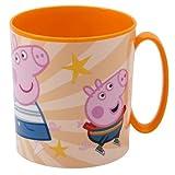 Tazza Peppa Pig Bicchiere in plastica 350ml per Microonde con manico Bambini colazione (Peppa Pig)
