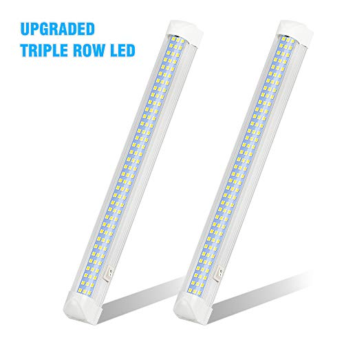 UPGRADED LED Interior Light Bar, MIHAZ 108LED 12V Universal Light Strip with ON/OFF