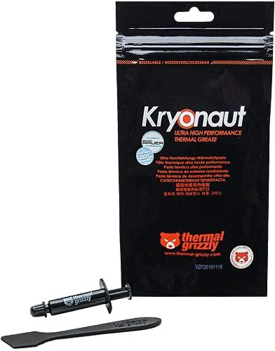 Thermal Grizzly Kryonaut WärmeleitpasteThermal Grizzly - Kryonaut die hochwertigste Wärmeleitpaste - Zum Kühlen aller Prozessoren, Grafikkarten und Kühlkörper in Computer und Konsolen (1 Gramm)