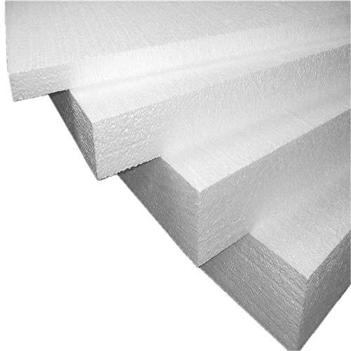 Imballaggii2000 piepschuim platen van isolerend polystyreen, ideaal voor de warmte-isolatie van paretten, soffitten en controle-elementen – dichtheid 15 kg/m2, 100 x 100 x 2 cm, verpakking met 30 stuks